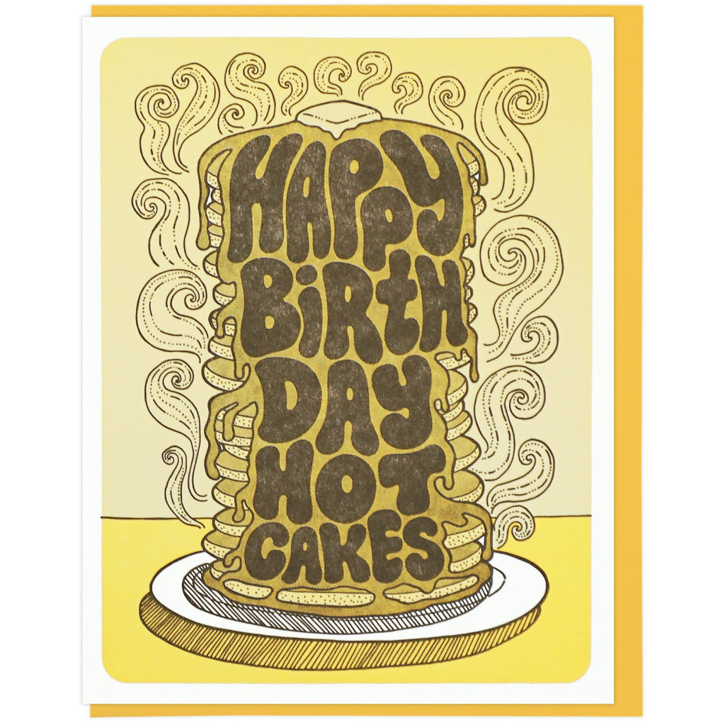 Hot Cakes Birthday Card