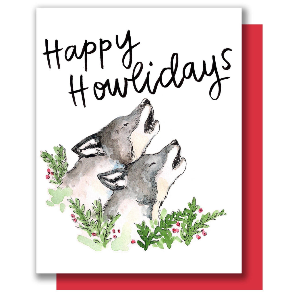 Howliday Wolves Card