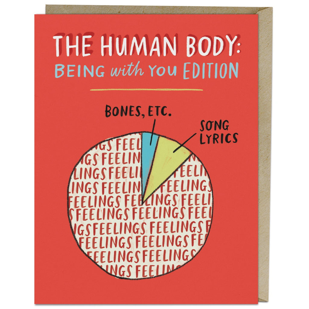 Human Body Pie Chart Card