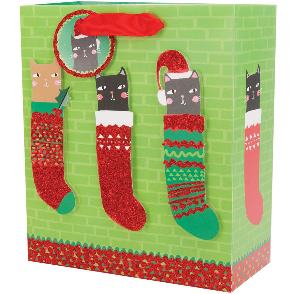 Hung Up On Christmas Medium Gift Bag