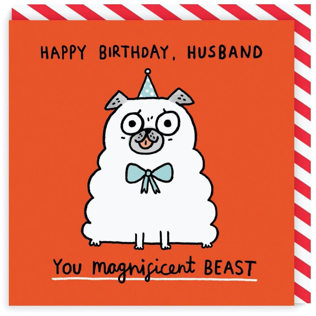 Husband Magnificent Beast Card