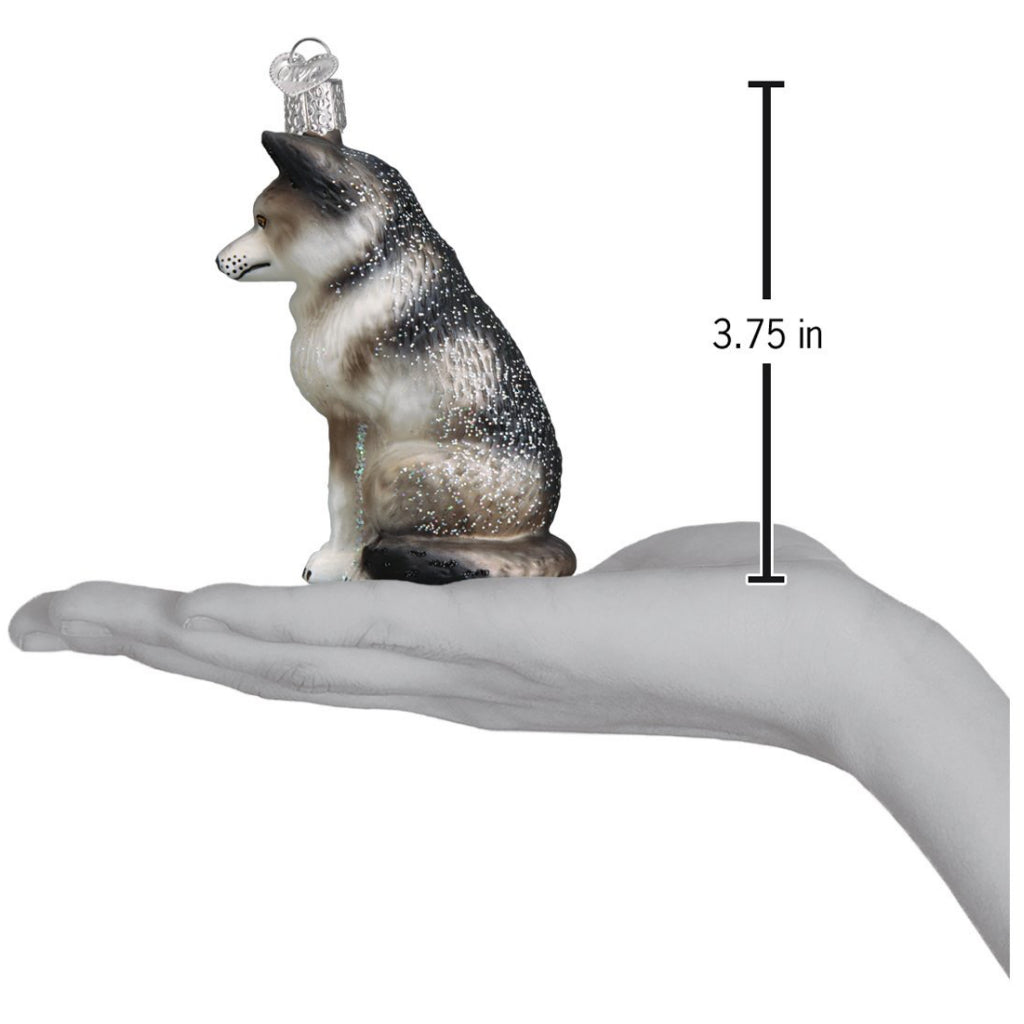 Size of Husky/Wolf Ornament.