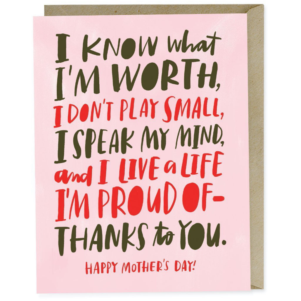 I Know My Worth Mom Card