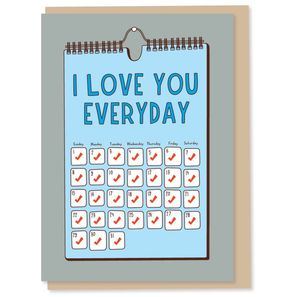 I Love You Everyday Dad Card