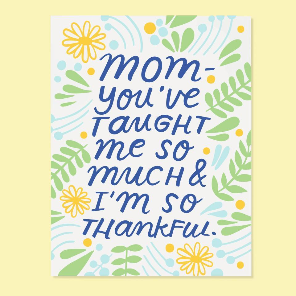 I'm So Thankful Mom Card