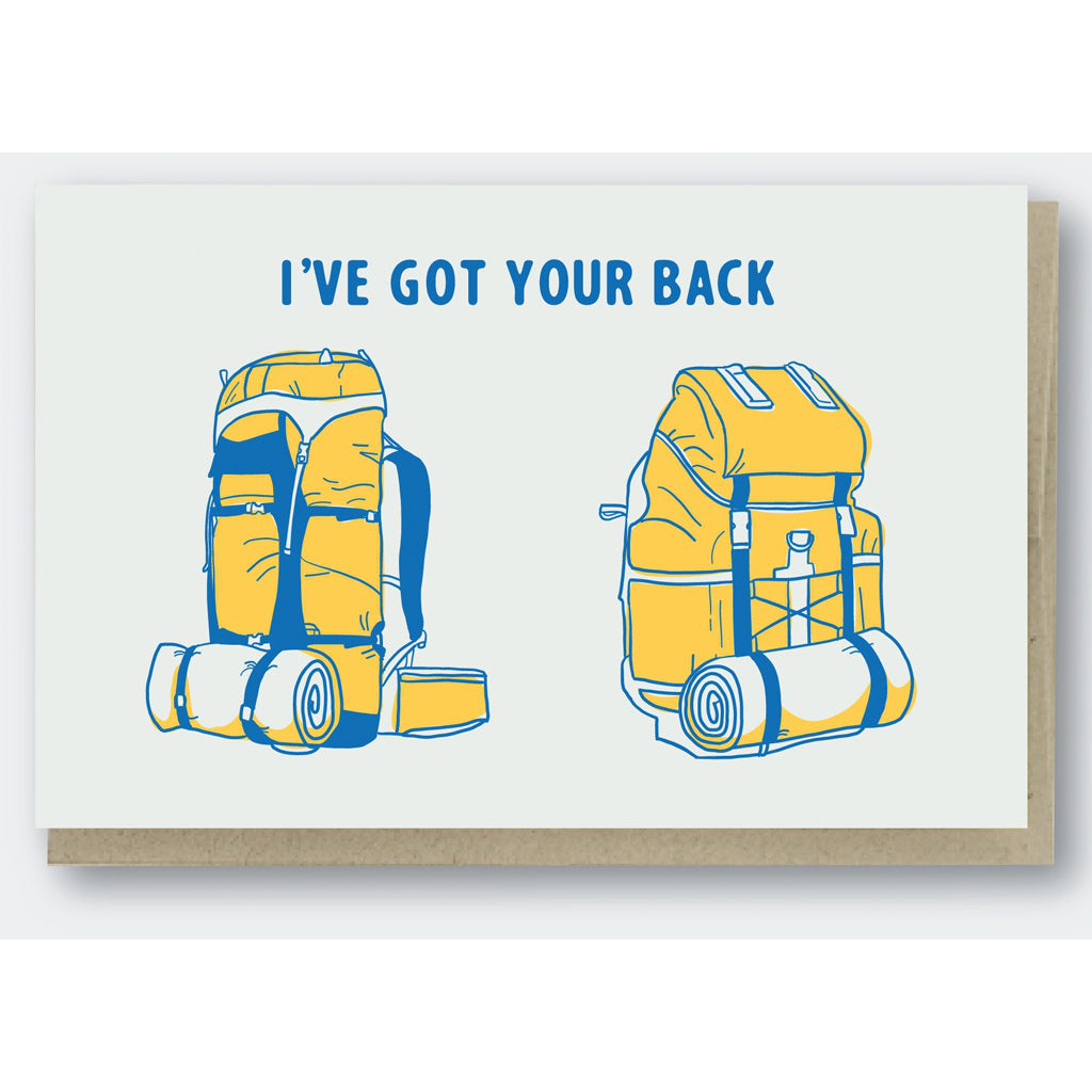 I've Got Your Back(pack) Card