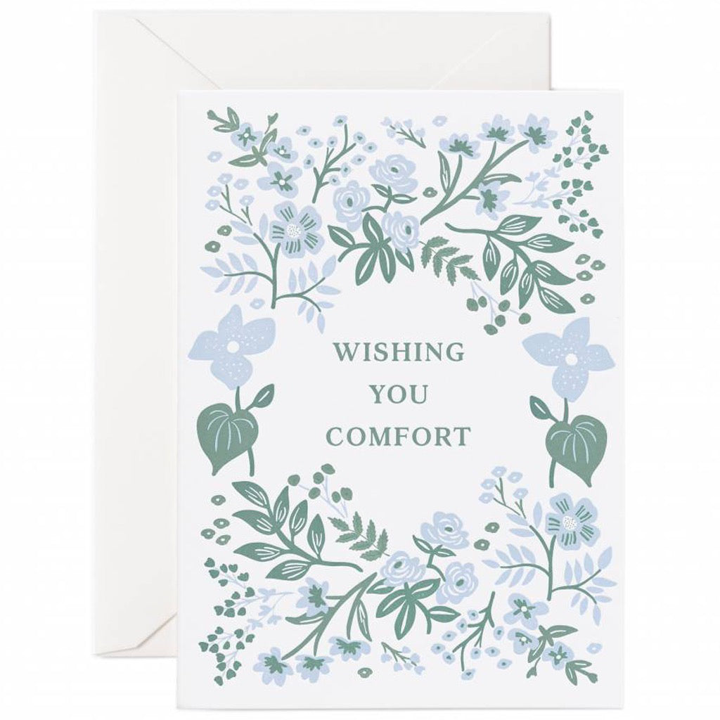 Indigo Wishing You Comfort Card