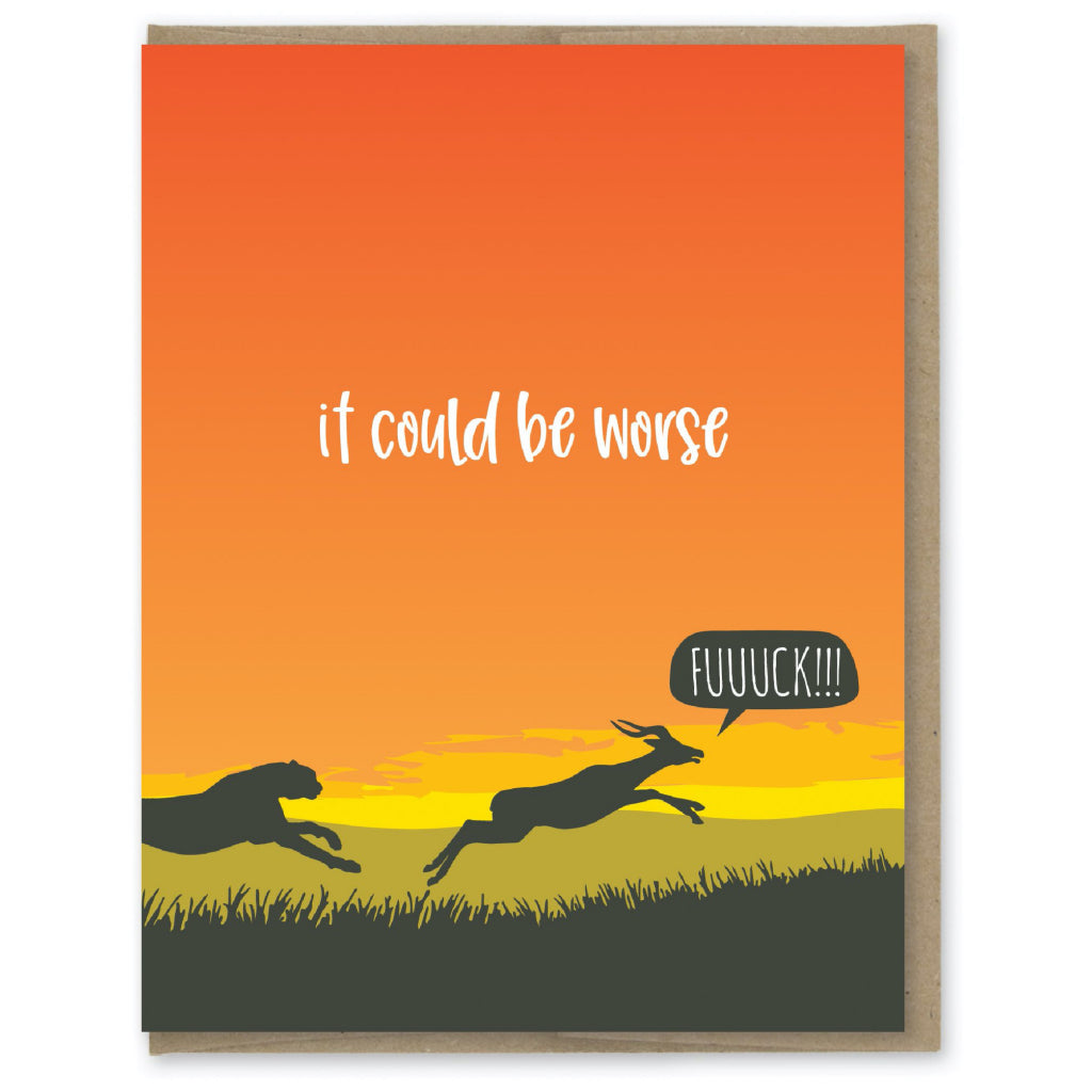 It Could Be Worse Gazelle Card