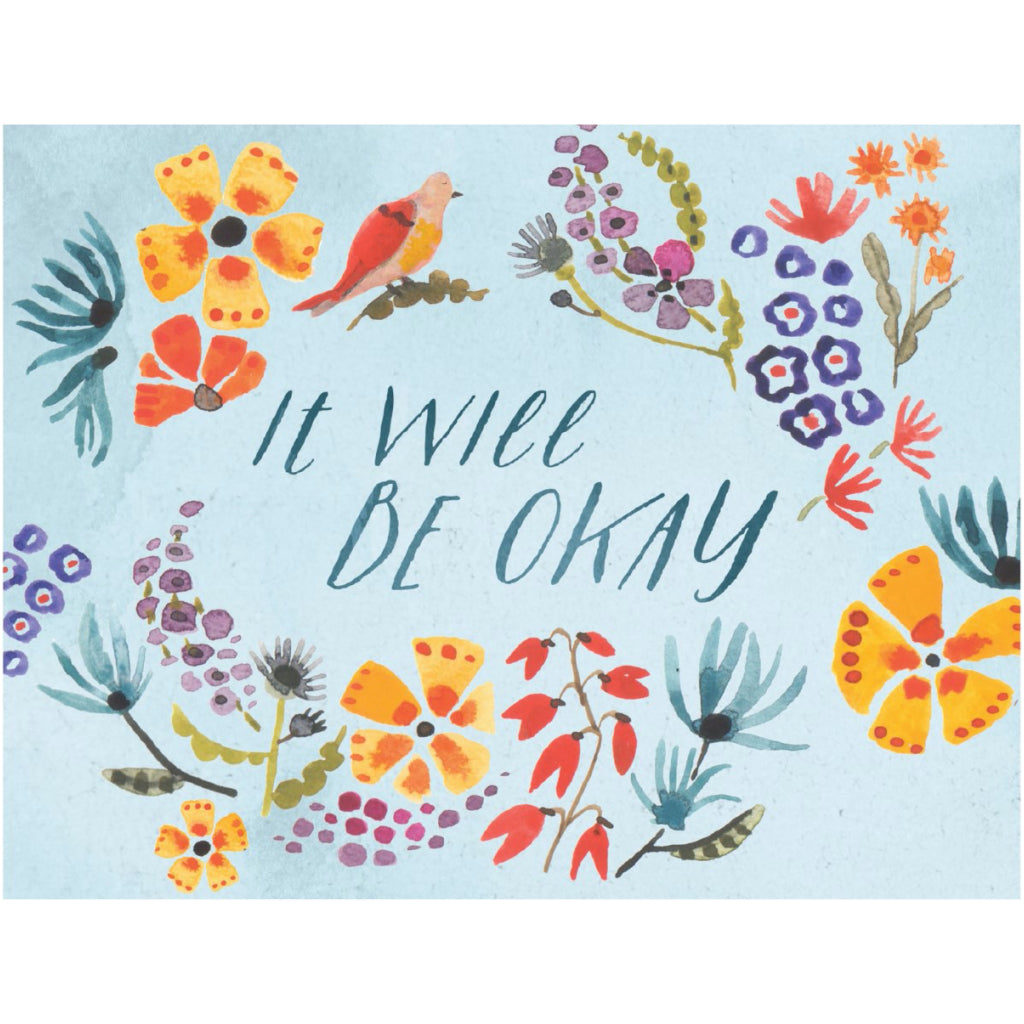 It Will Be Okay Floral Card