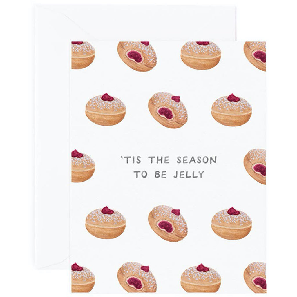 Jelly Donut Hanukkah Card