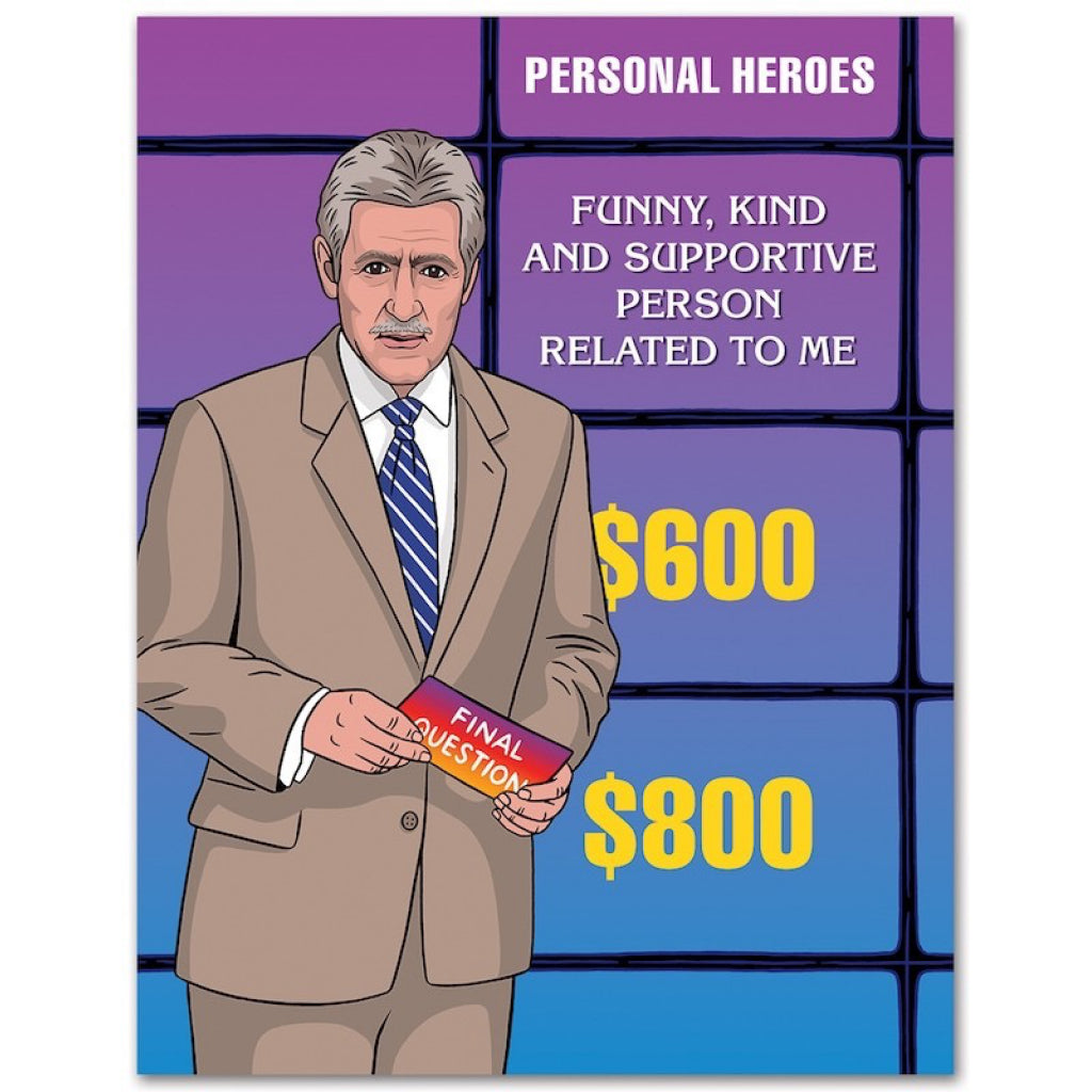 Jeopardy Father's Day Card
