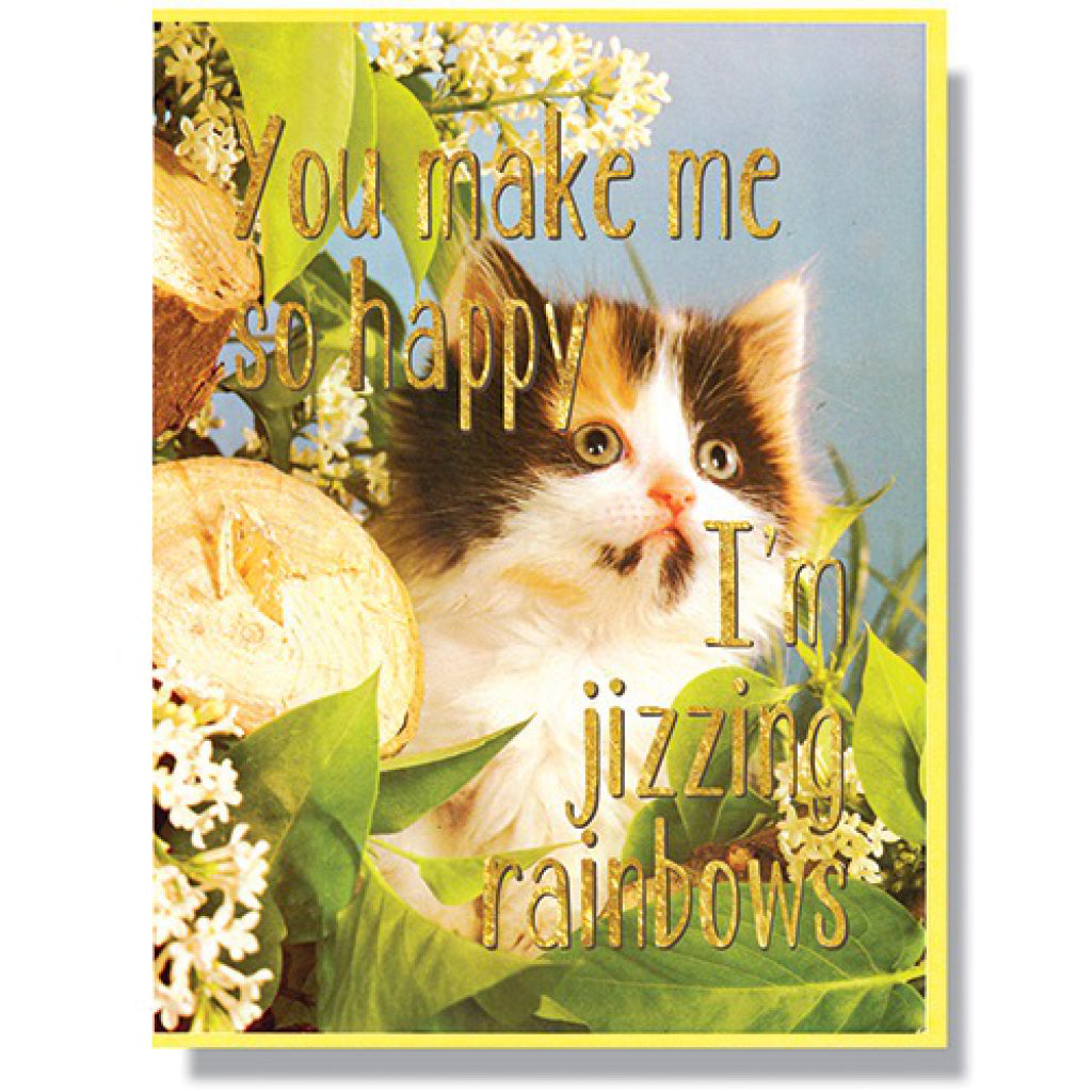 Jizzing Rainbows Card