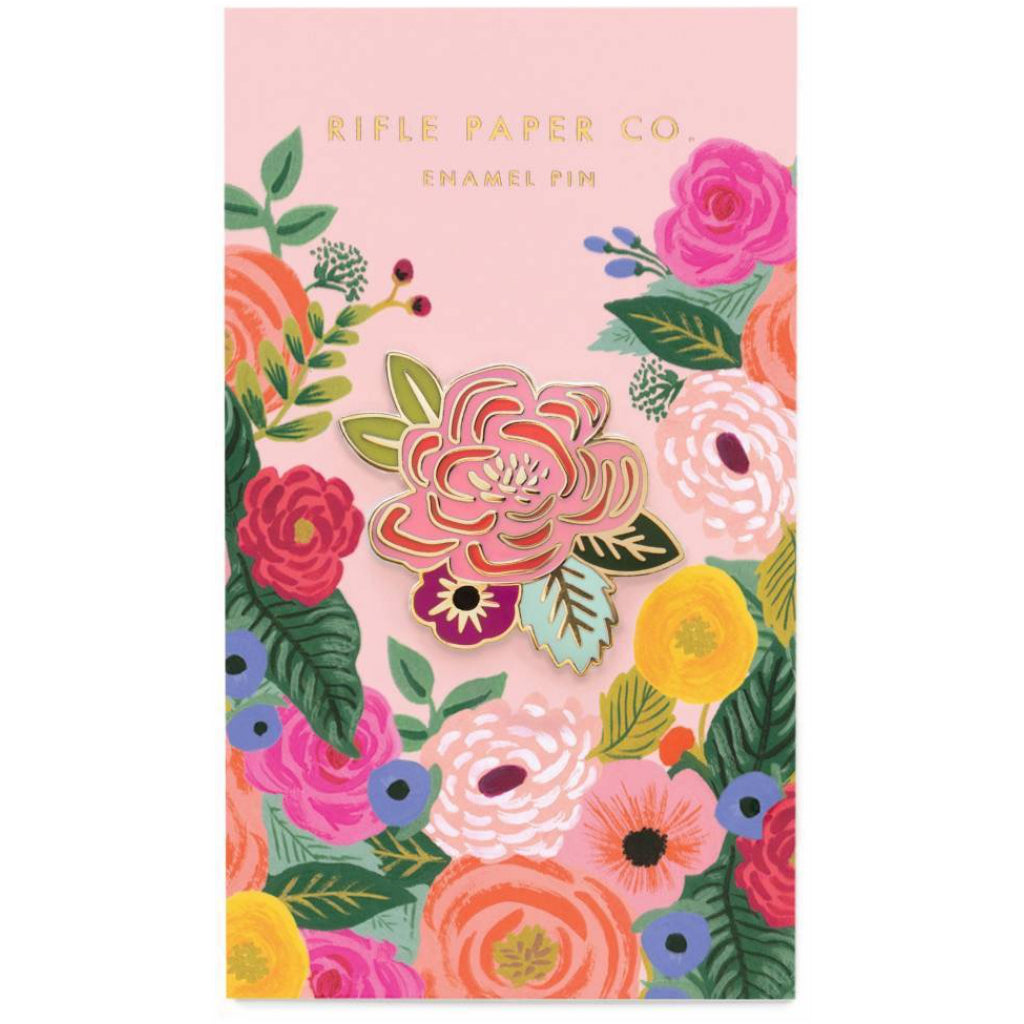 Juliet Rose Enamel Pin packaging