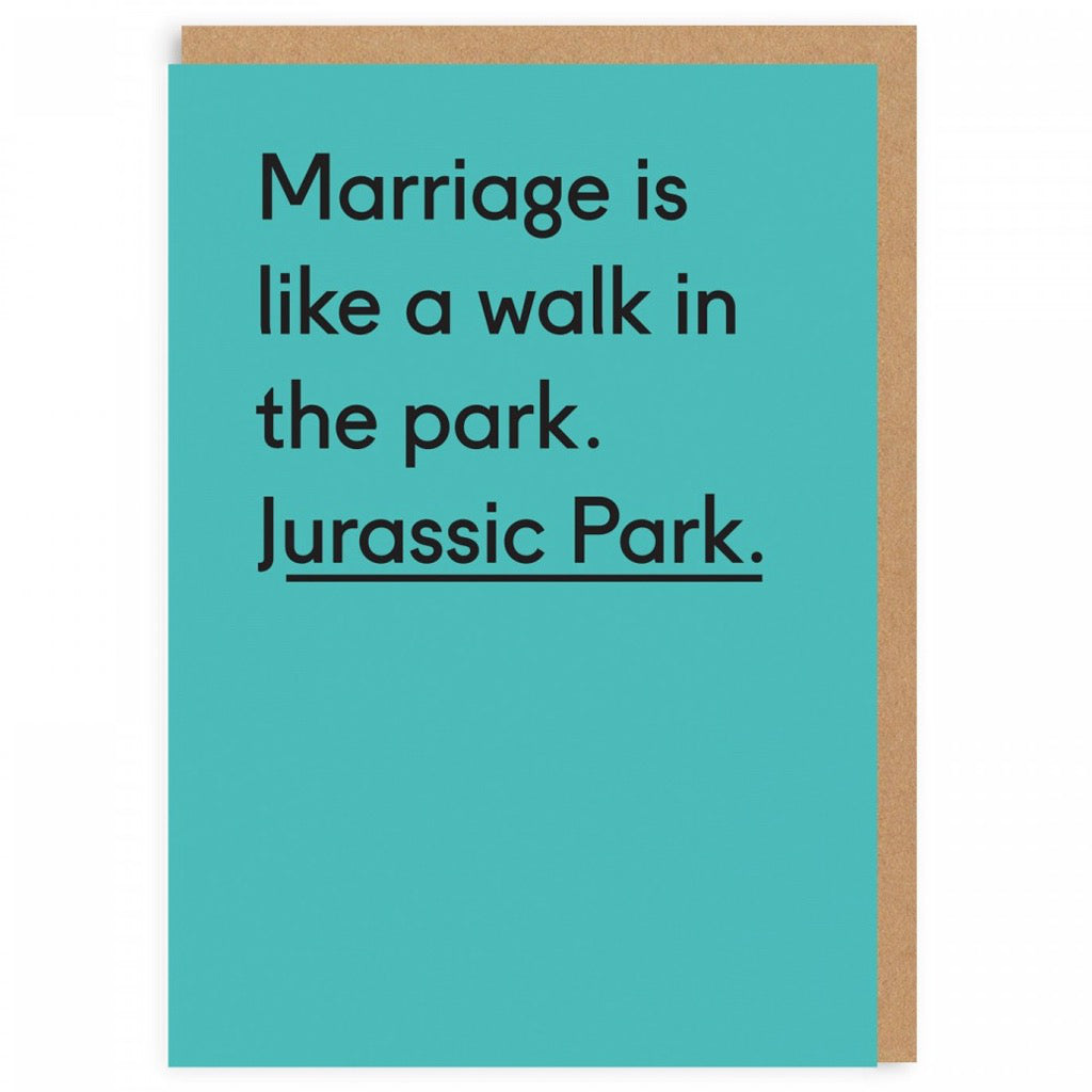 Jurassic Park Wedding Card
