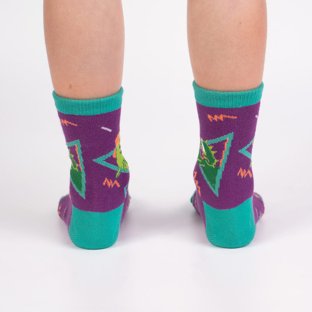 Jurassic Party Junior Crew Socks Back