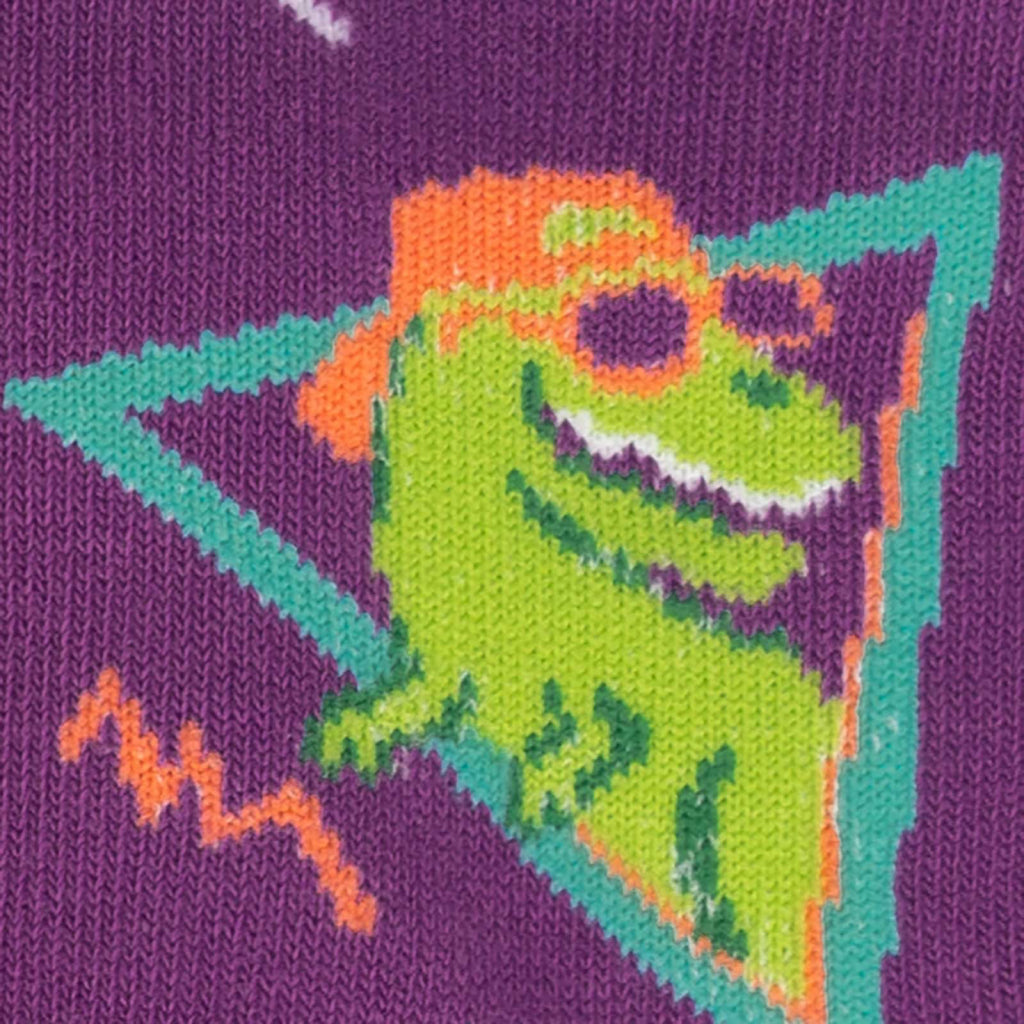 Jurassic Party Junior Crew Socks Close-Up