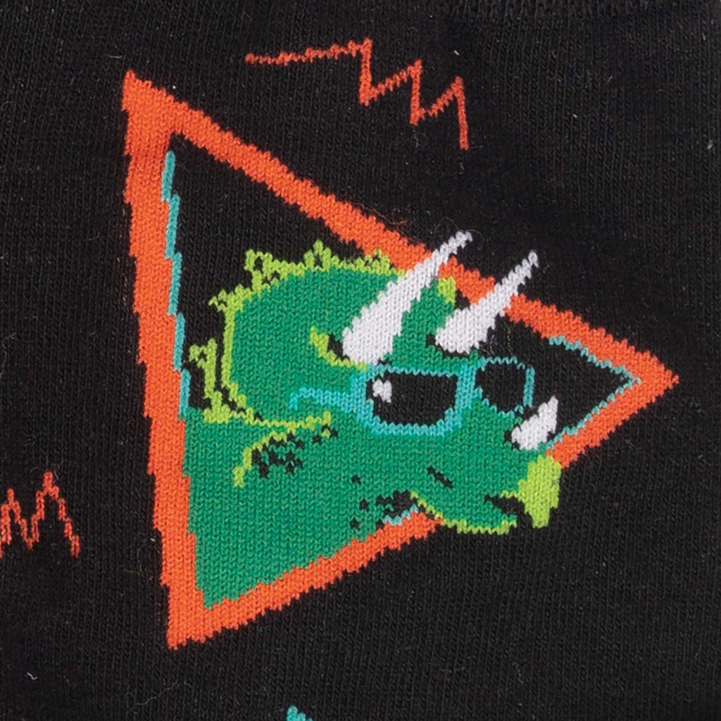 Jurassic Party Men's Crew Socks CLose-Up