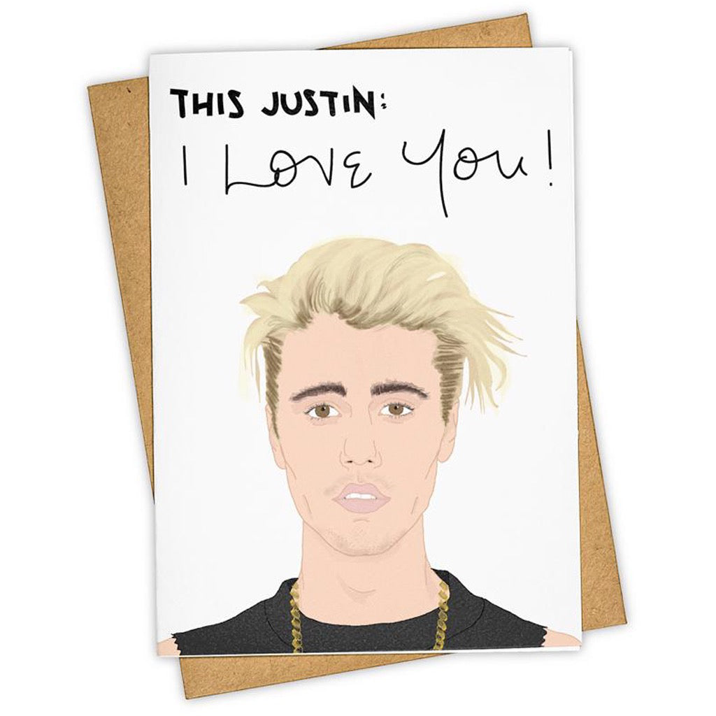 Justin Beiber Love You Card