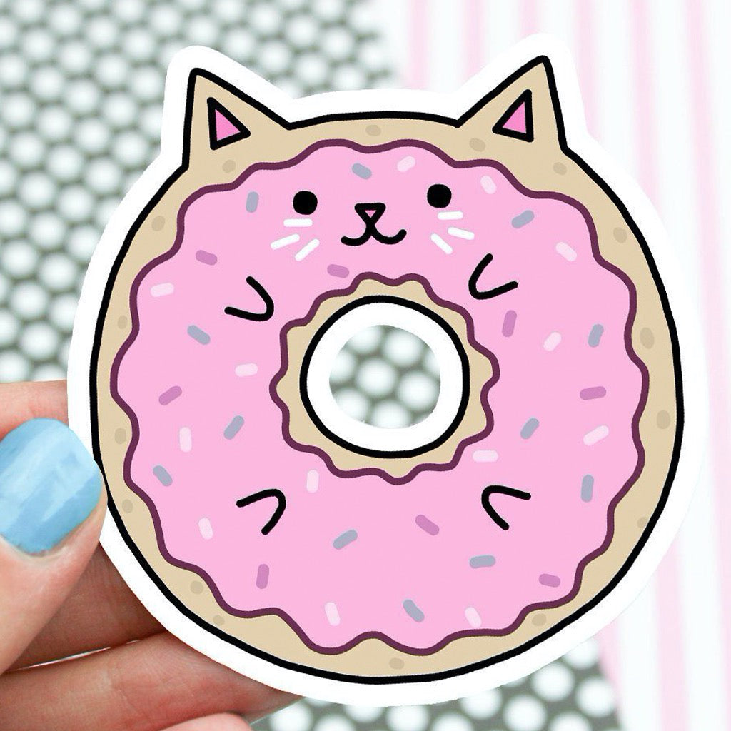 Kawaii Donut Cat Sticker
