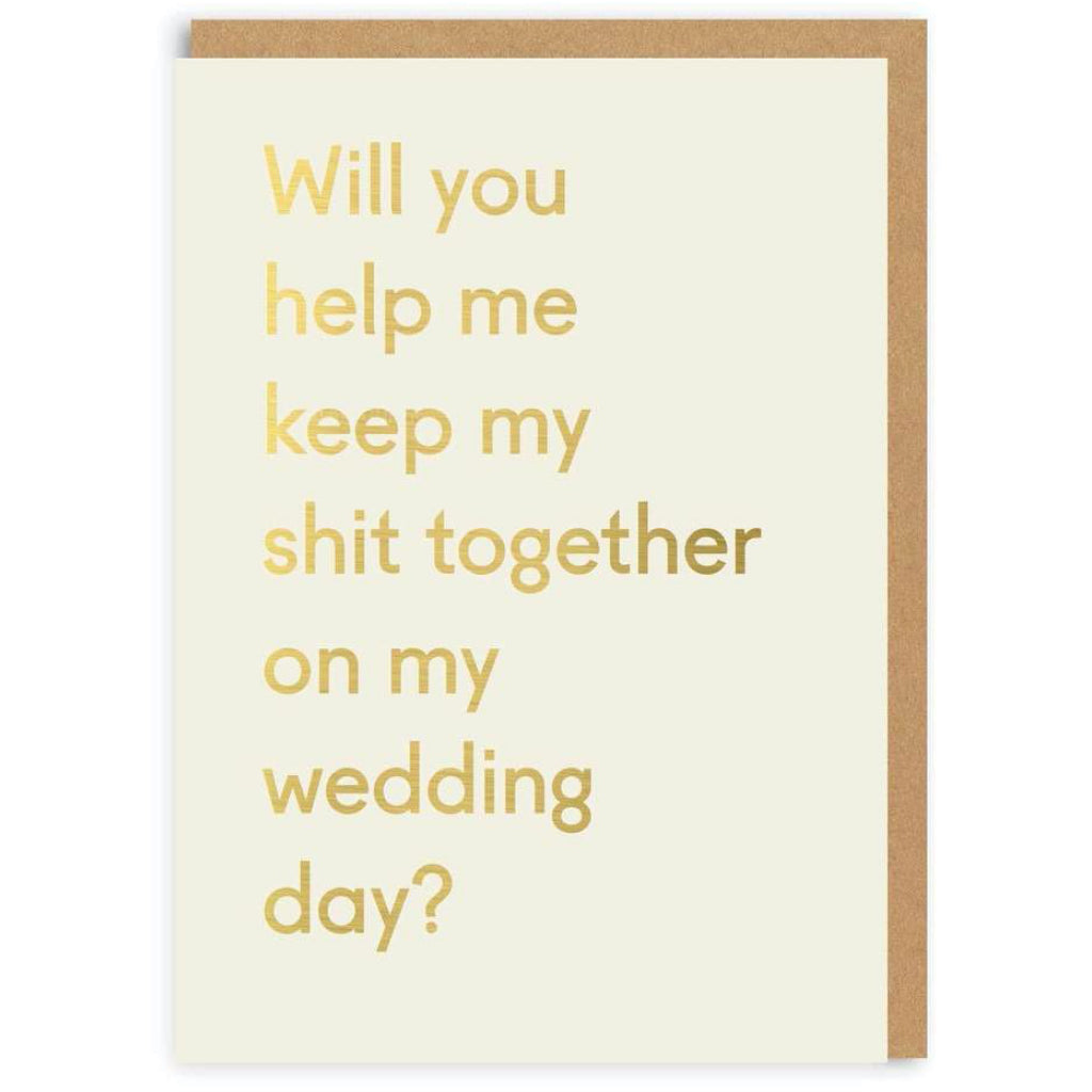 Keep My Shit Together Wedding Party Card