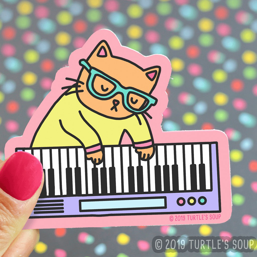 Keyboard Cat Sticker