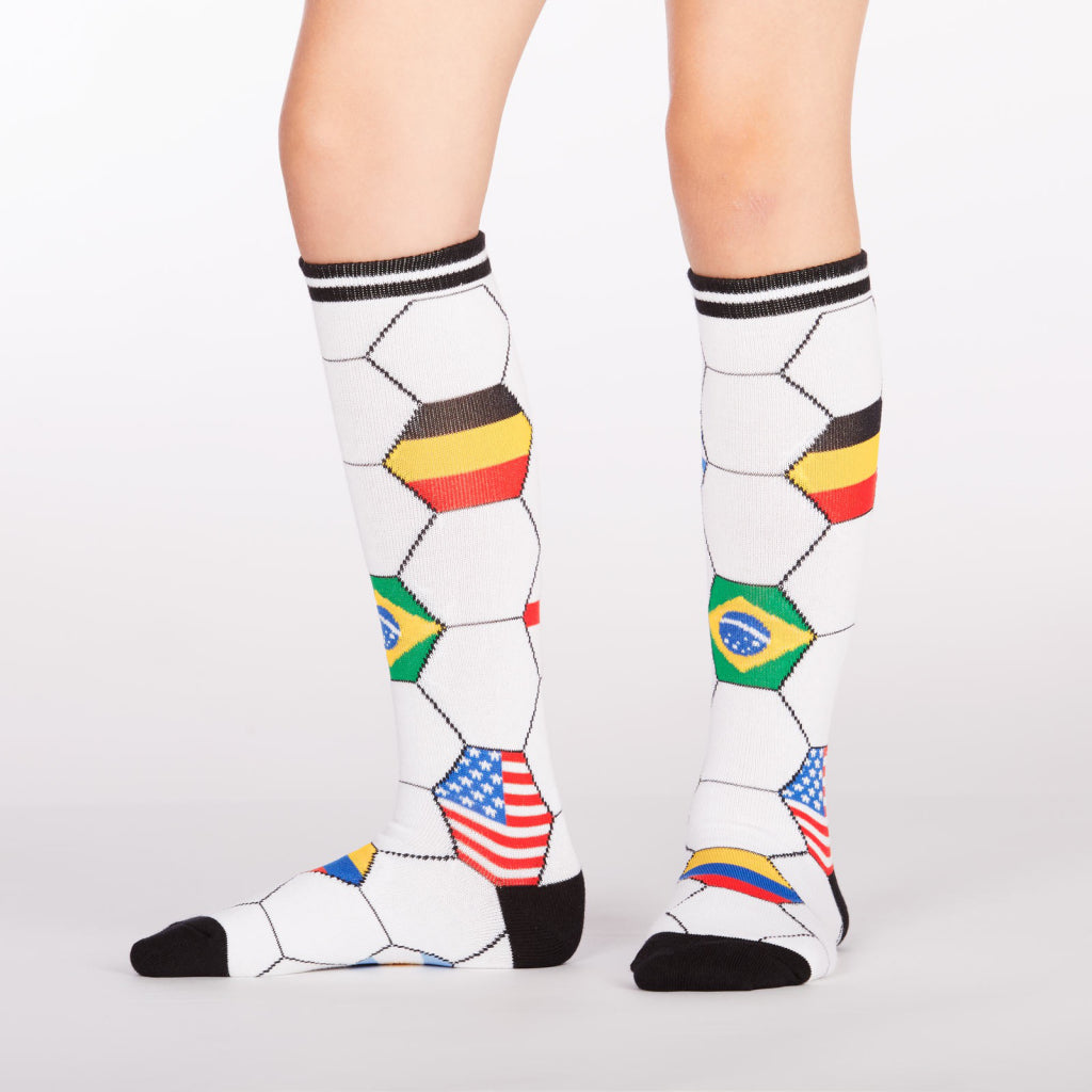 Very cool soccer socks.