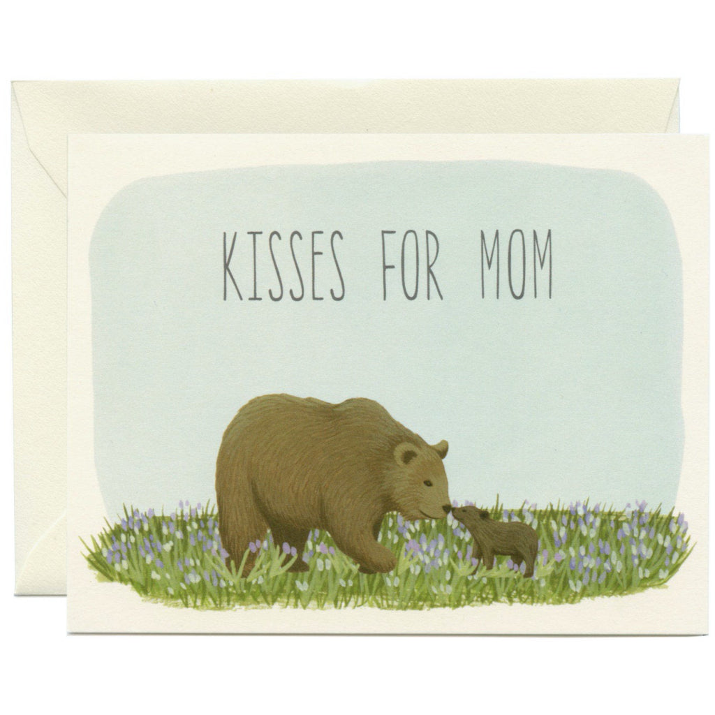 Kisses For Mom Bears Card