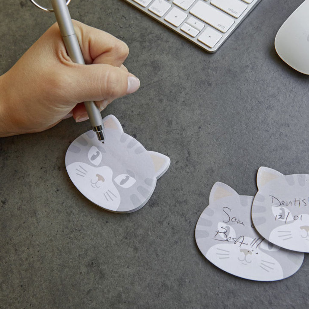 Kitty Cat Sticky Notes In Use