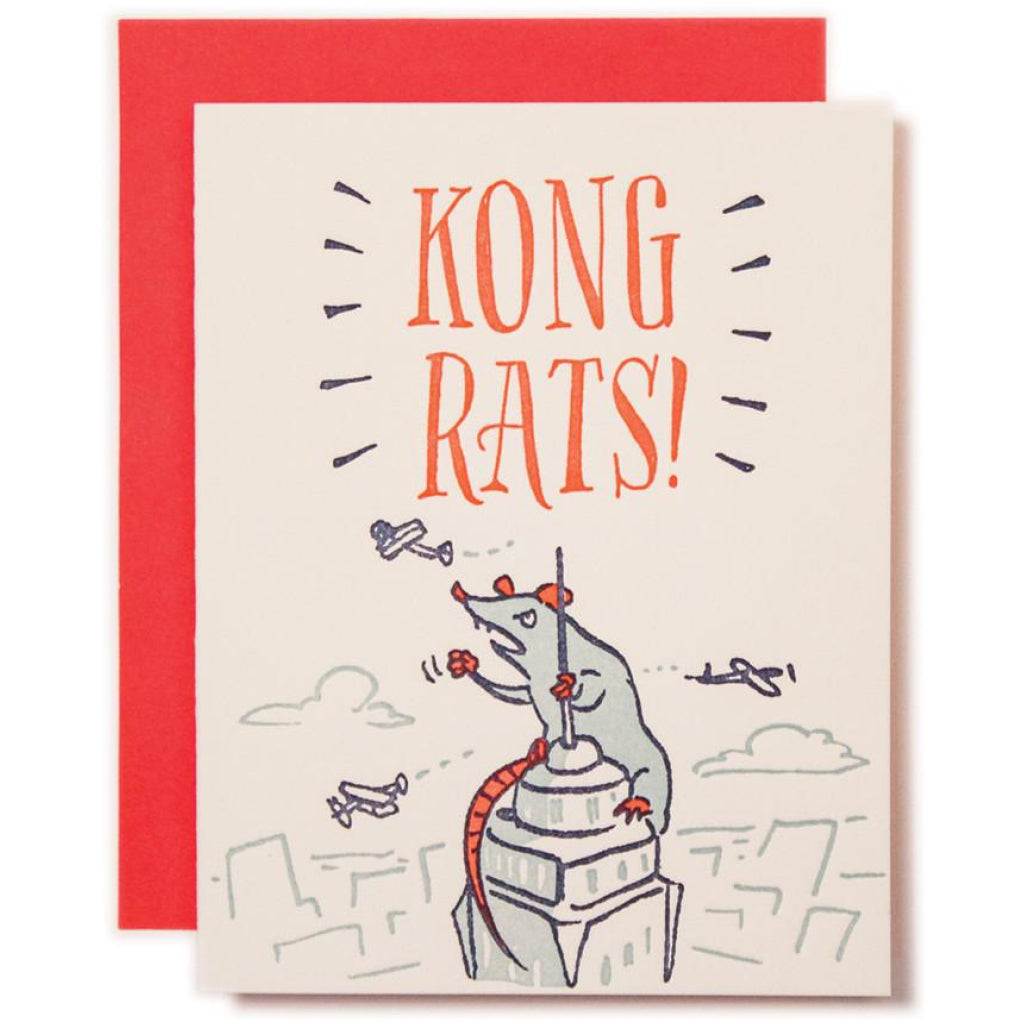 Kong Rats Congratulations Card