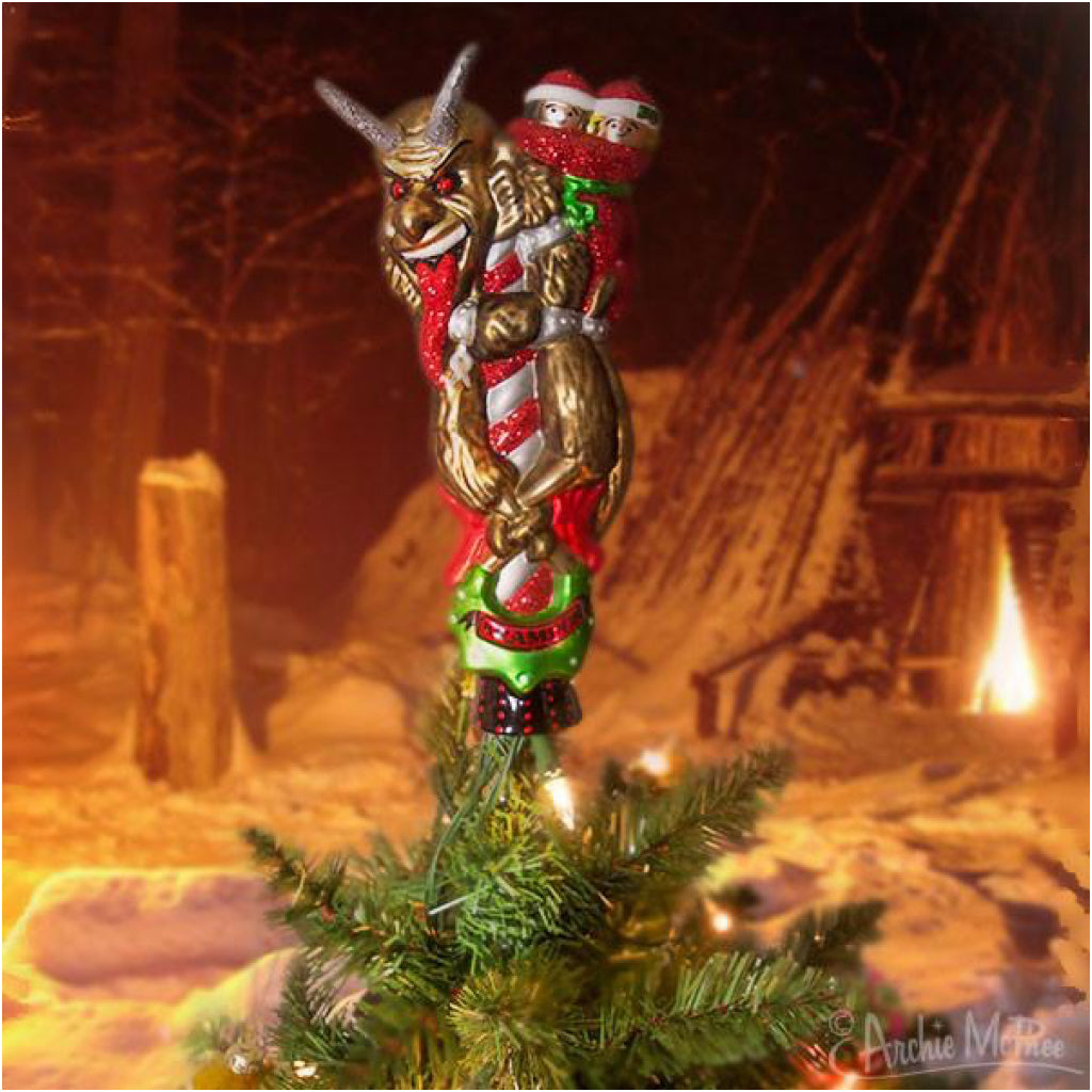 Krampus Tree Topper On Tree