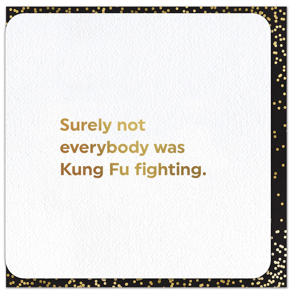 Kung Fu Fighting Card