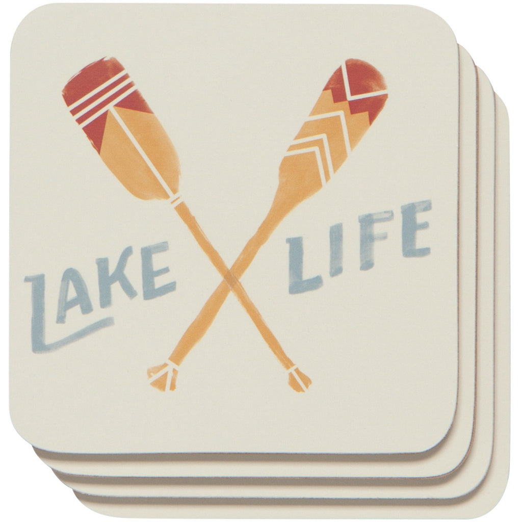Lake Life Coasters Set of 4
