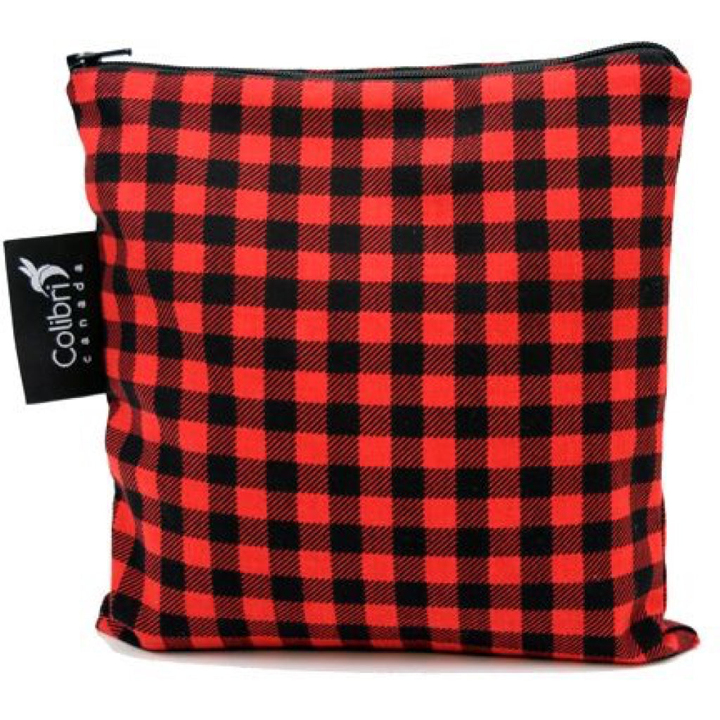 Large Snack Bag - Plaid