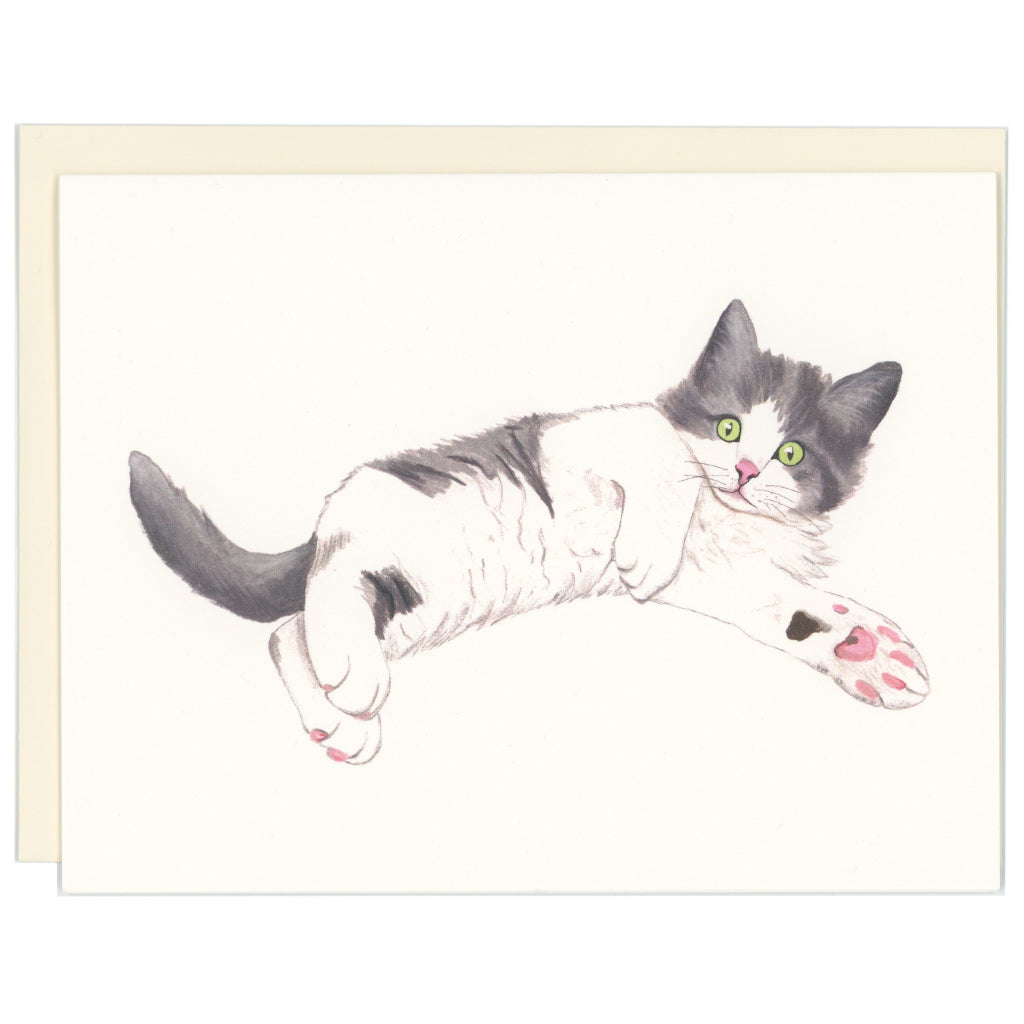 Laying Kitten Card
