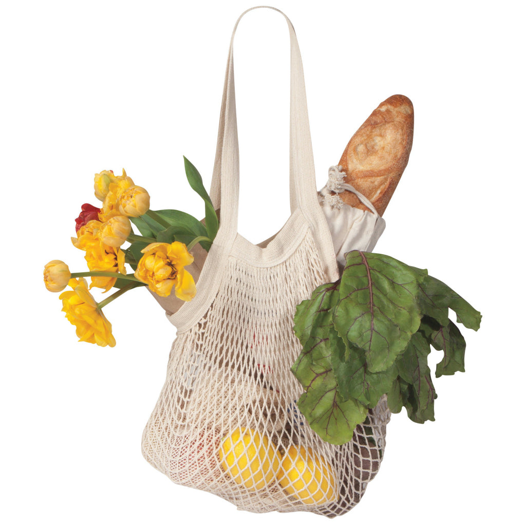 Le Marche Natural String Shopping Bag In Use