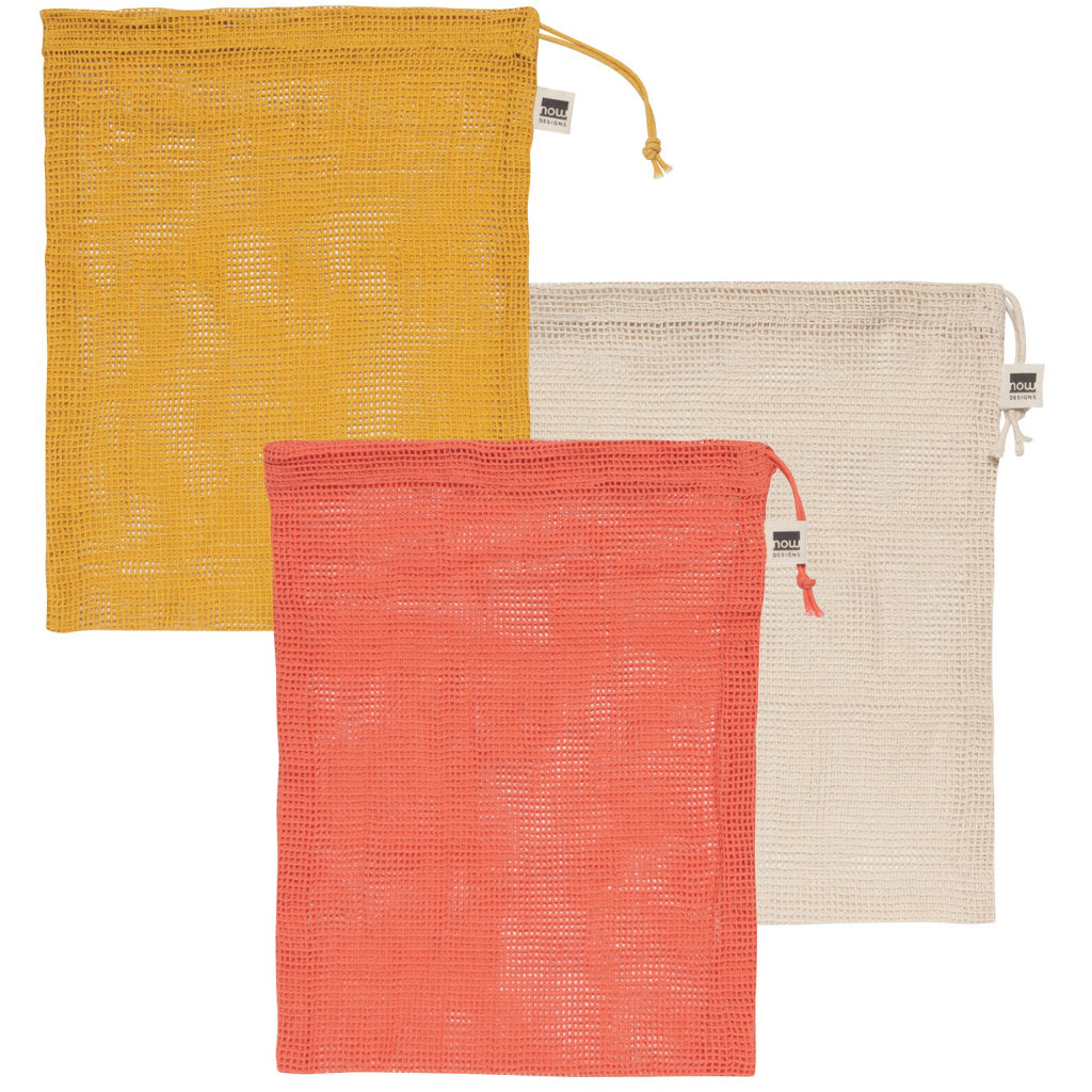 Le Marche Set Of 3 Coral Produce Bags