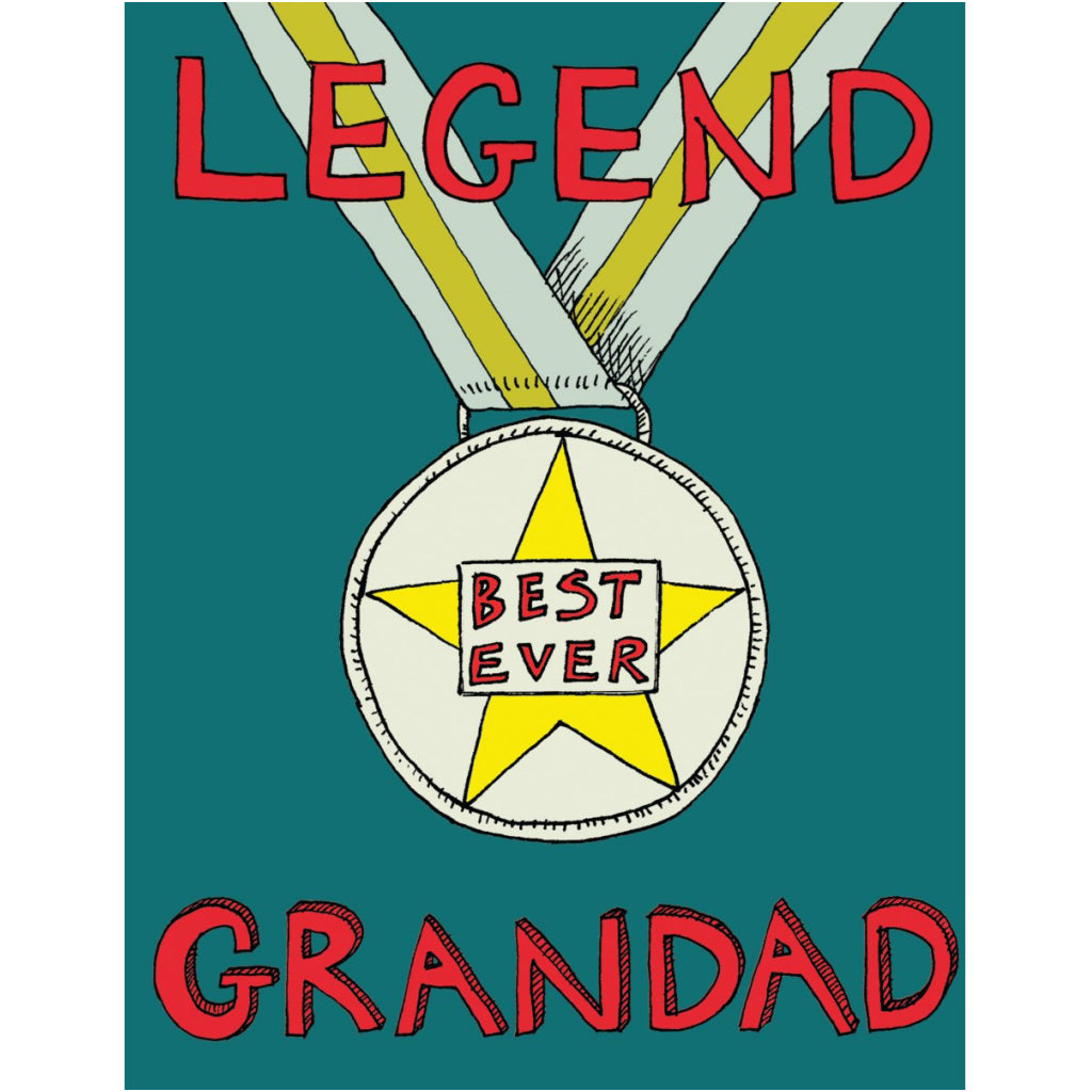 Legend Grandad Medal Card