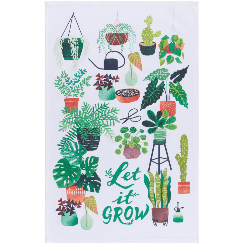 Let It Grow Tea Towel
