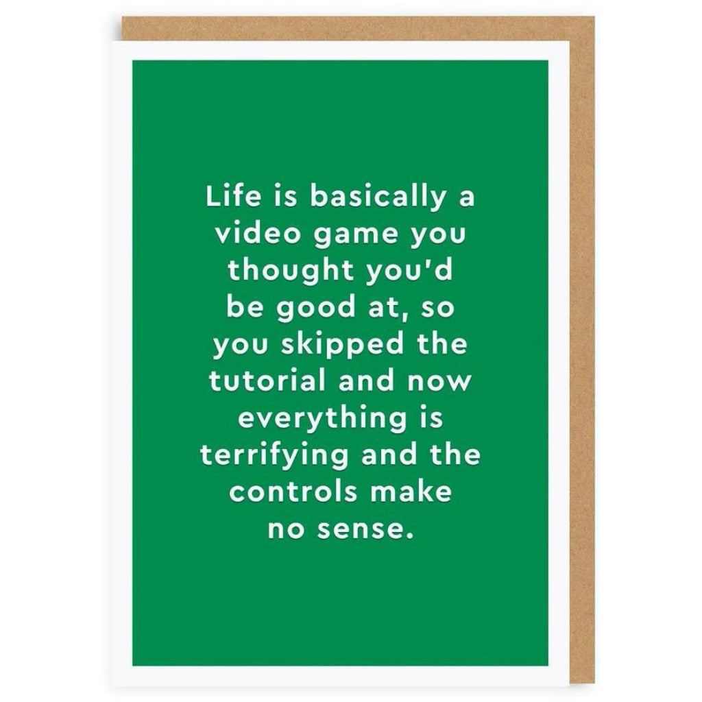 Life Is A Video Game Card