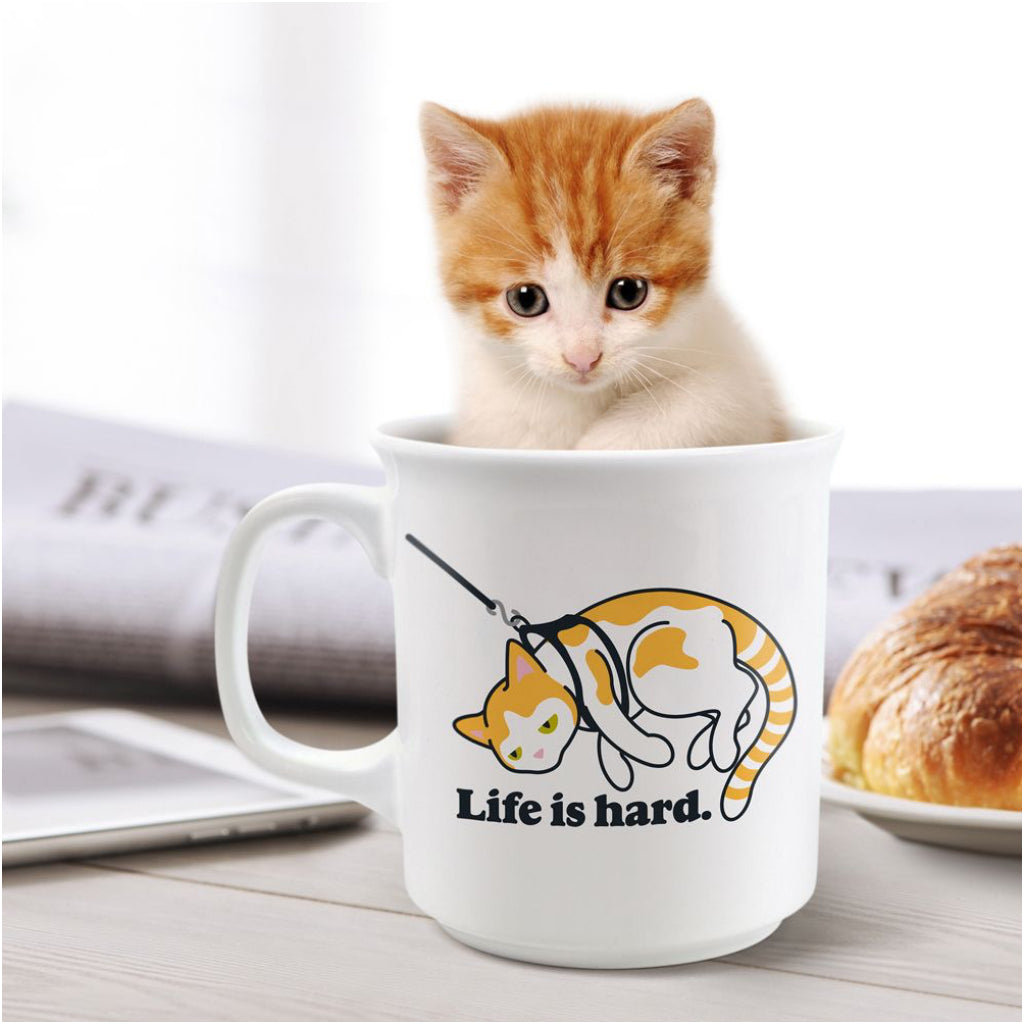 Life Is Hard Mug On Table