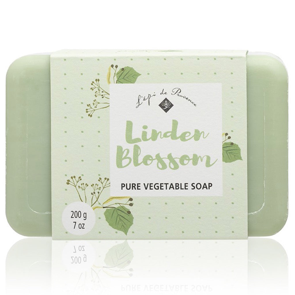 Packaging of Linden Blossom 200g Soap.