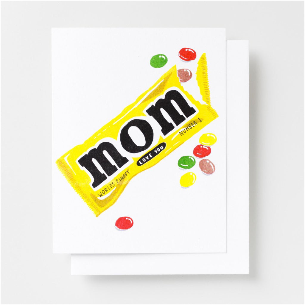 Love You Mom Candy Card