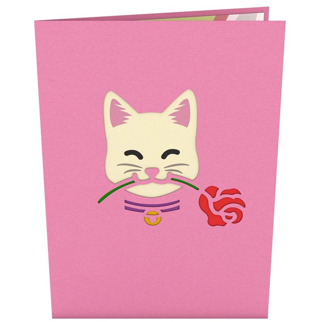 Love Cat 3D Pop Up Card