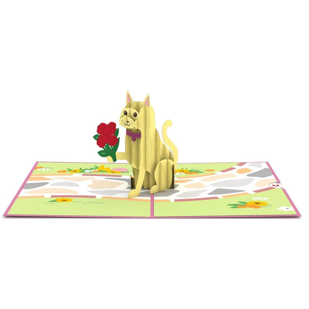 Love Cat 3D Pop Up Card Interior