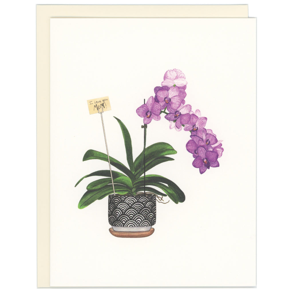Love You Mom Orchid Card