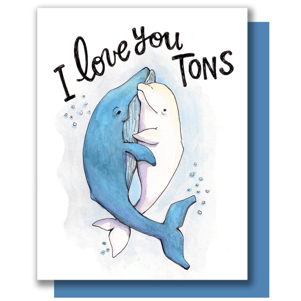 Love You Tons Whales Card