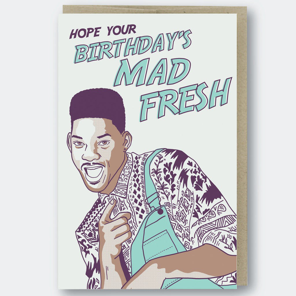 Mad Fresh Prince Birthday Card