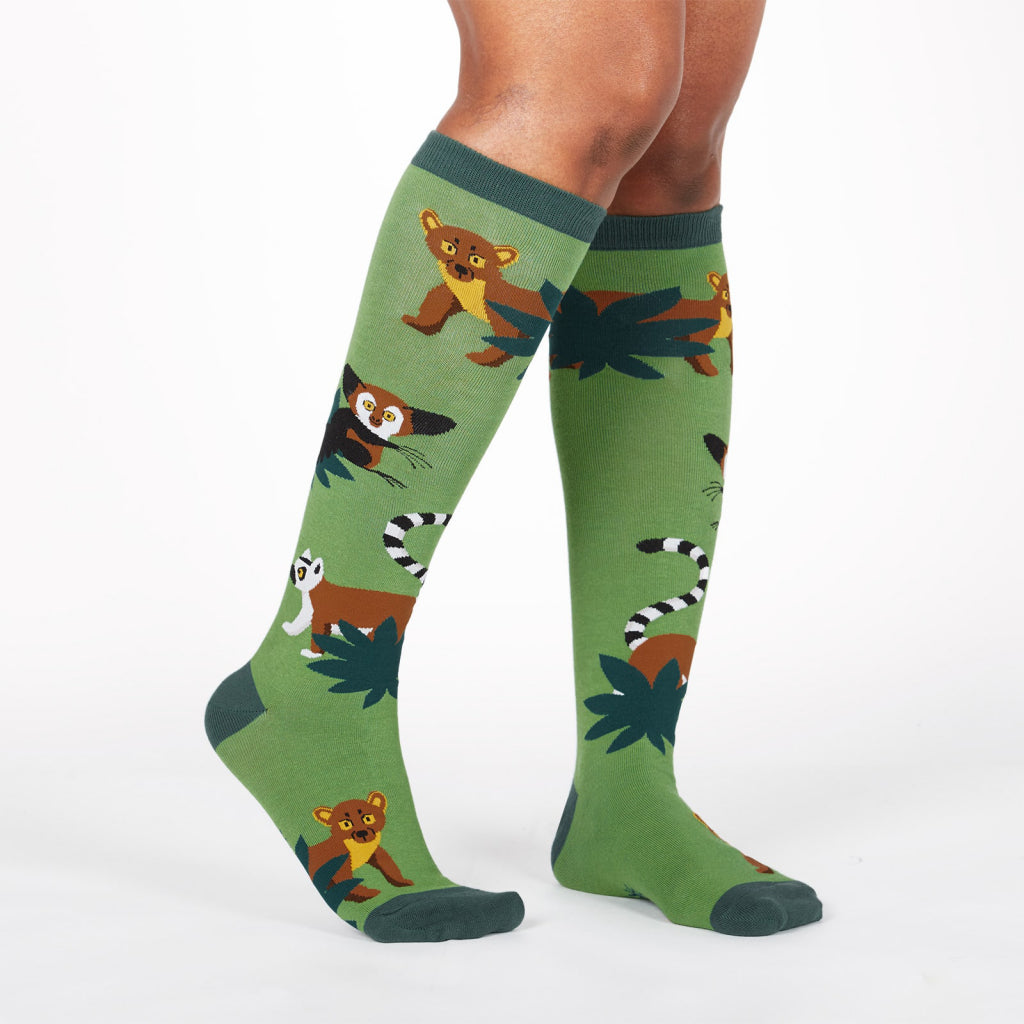 Madagascar Managerie Knee Socks Side
