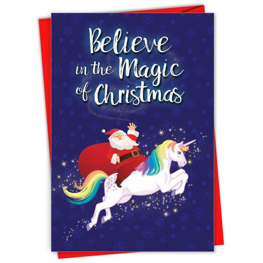 Magic of Christmas Unicorn Card