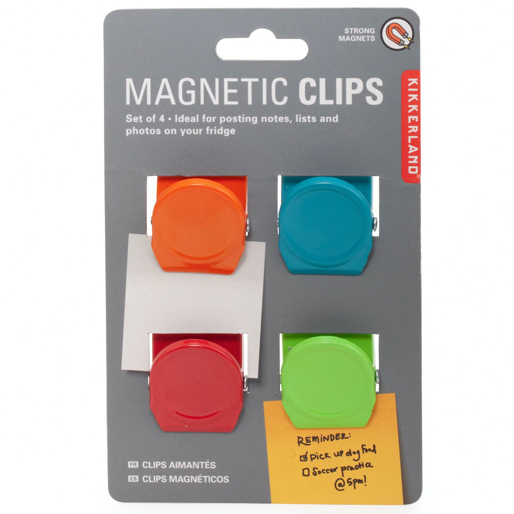 Magnetic Clips Set of 4 Packaged